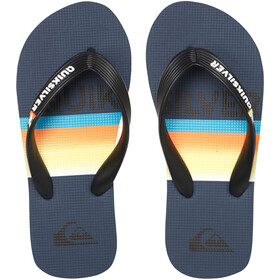 Quiksilver Molokai Slab Sandals Youth, black/blue/blue